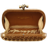 bottega veneta clutch cnot satin dark gold 2